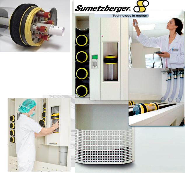 Ống vận chuyển mẫu xét nghiệm bằng khí nén Sumetzberger